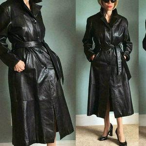 Wilsons Pelle Studio Women's M Long Leather Coat